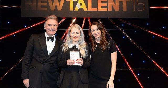 Hannah Ewens accepting her PPA Award