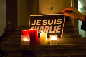 Image of Charlie Hebdo tribute